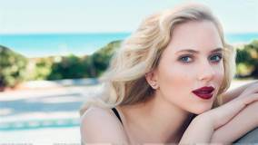 Scarlett Johansson Red Lips At Craig McDean Photoshoot